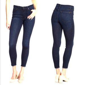 Joe's Jeans  High Rise Skinny Ankle Raw Hem Jeans